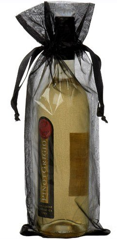 Dárkové sáčky na víno černé