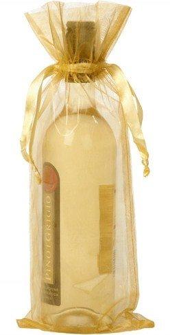 Dárkové sáčky na víno zlaté