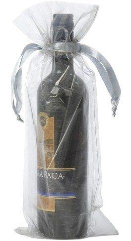 Dárkové sáčky na víno stříbrné