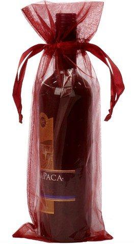 Dárkové sáčky na víno bordó