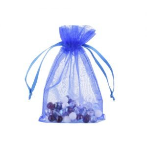 royal blue organza bags
