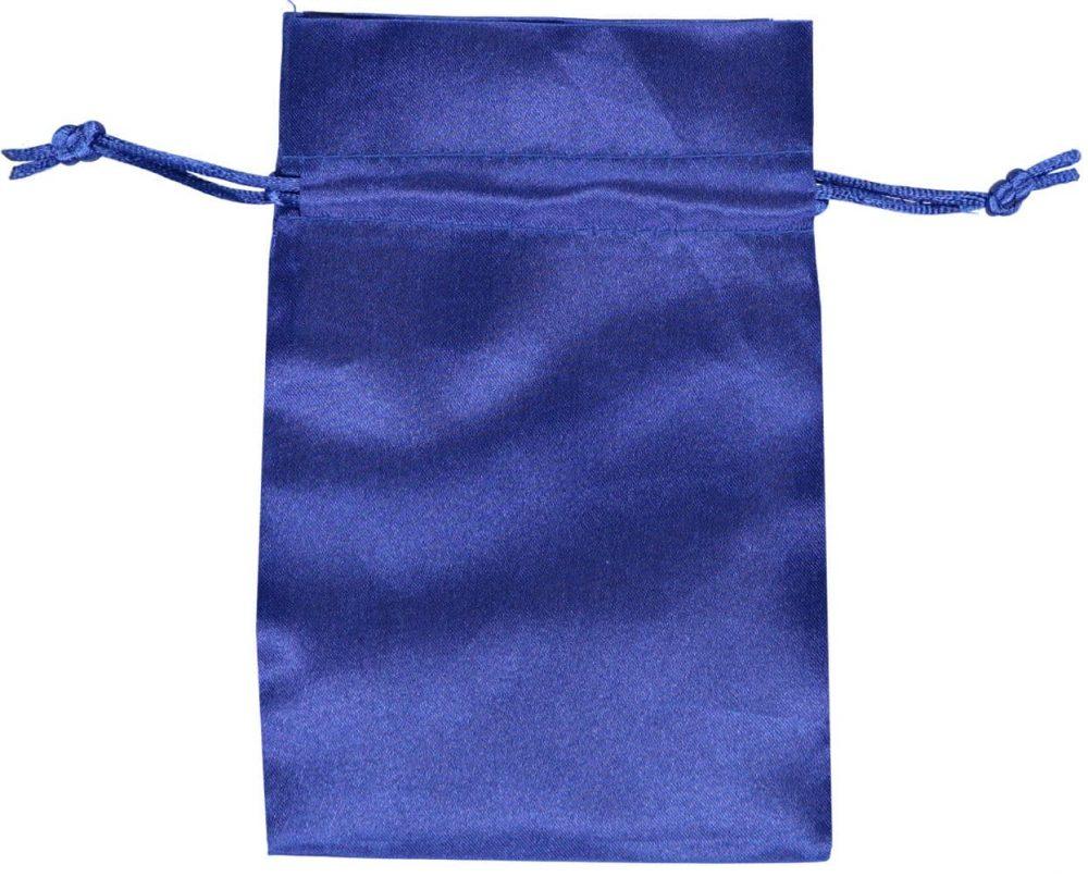 saténový sáček se šňůrkou 10x15cm modrý 3.0