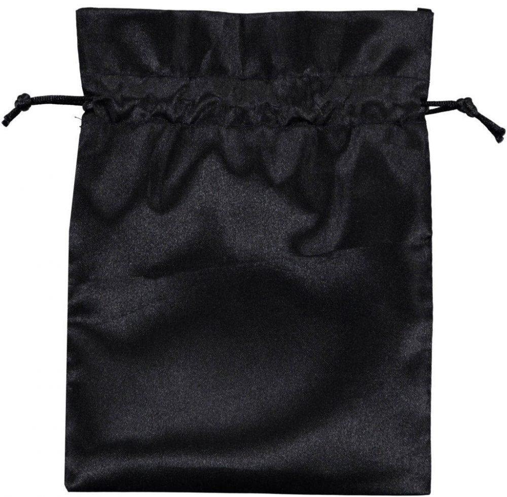 saténový sáček se šňůrkou 15x20cm černý 3.0
