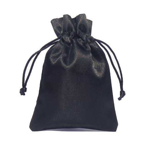 saténové sáčky černé 10x15cm 500x500