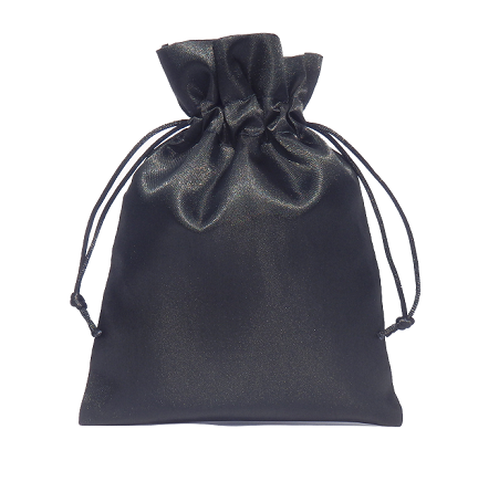 satin pouches black 15x20cm