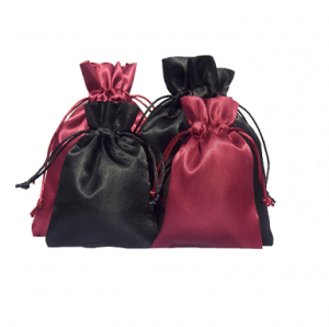 satin pouches black and wine red