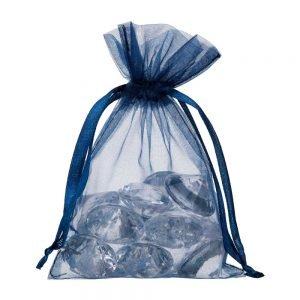 small organza bag 10x15cm navy blue 2.0