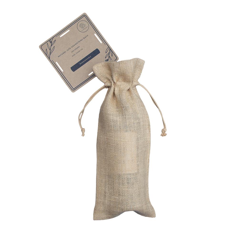 50 kusů biologicky odbouratelných jutových tašek na lahve 15x38cm
