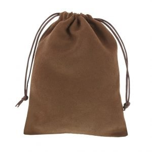 suede pouch chocolate brown 12x16cm 3.0