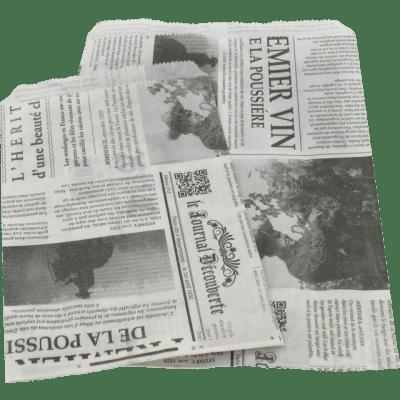 1000 kusů Papírových Sáčků Francouzské Noviny