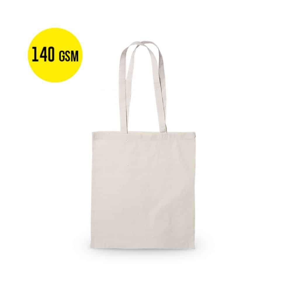 50 kusů Bavlněná Taška s Nosností 140 gramů, Velikost 37x41cm