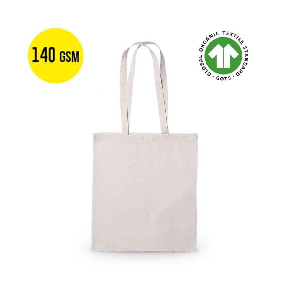 50 kusů Bavlněná Ekologický Taška s Nosností 140 gramů, Velikost 37x41cm