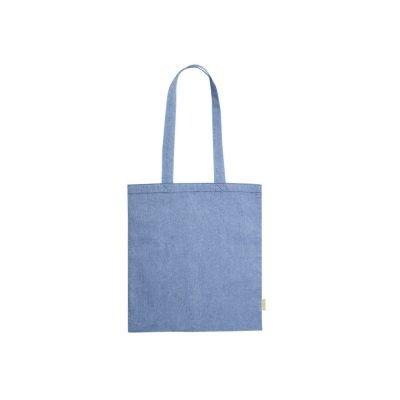 50 ks 100% Recyklovaná Bavlněná Nákupní Taška ve 4 Barvách modra